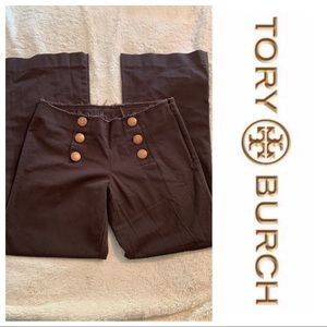 Tory Burch Brown Sailor Wide Leg (4) Pant